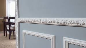detailed chair rail will add exquisite design to your dining room