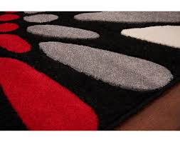 pretty red and black rugs innovative decoration white grey