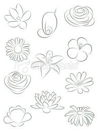 draw set of flowers vector ilration royalty free stock vector art ilration