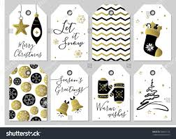 Christmas New Year Gift Tags Gold Stock Vector Royalty Free