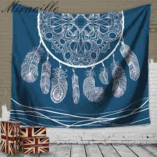 Dream Catcher Carpet Fascinating Miracille Beautiful Dream Catcher Printed Wall Carpet Hang Tapestry