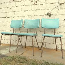 Retro Kitchen Chairs For Vintage Kitchen Chairs Three Vinyl Turquoise Chairs Local