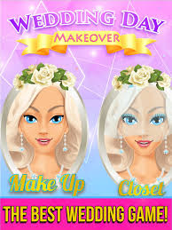 wedding day makeover on the app
