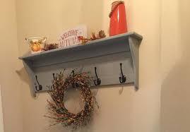 coat rack wall hanging shelf with coat