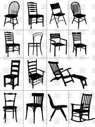 rocking chair silhouette. Silhouettes Of Home Chairs, Chaise Longue And Rocking Chair Royalty Free Vector Clip Art Silhouette