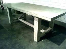 diy concrete dining table full size of oor concrete dining table patio round decorating cool white
