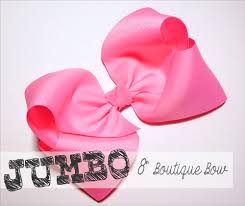 jumbo 8 inch boutique hair bow