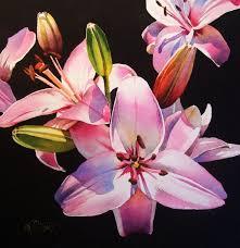 a celebration of spring pink asiatics original fine art for jacqueline gnott