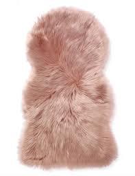 bigw faux fur rug in pink