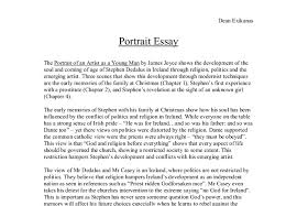 portrait of an artist as a young man essay a level art design  document image preview