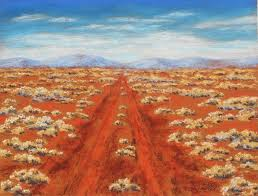 outback track pastel painting by sian butler