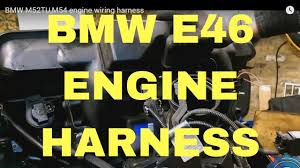 bmw m52tu m54 engine wiring harness
