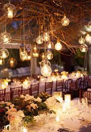 rustic dry branches with lights rustic wedding decoration ideas