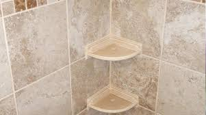 tile shower how to install glass corner shelf in ti how