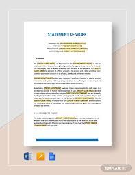 design statement of work statement of work template 13 free pdf word excel