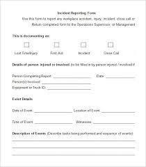 employee injury report form template work place incident report rome fontanacountryinn com