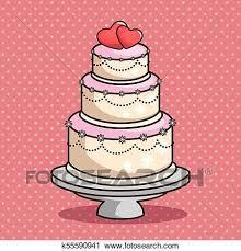 Stylish Wedding Cake Clipart K55590941 Fotosearch