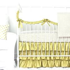 gold crib bedding perfect for a black and white nursery or any red