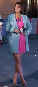 Alex Jones flashes her underwear on BBC s The One Show Daily.