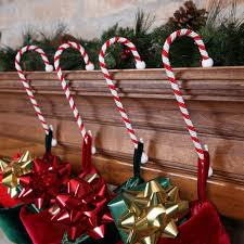 Candy Cane House Decorations Set Of Four Candy Cane Stocking Holders Christmas Httpsplay How To 59