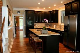 Kitchens With Black Appliances Kitchen Black Kitchen Cabinets With Dramatic Kitchen With Black