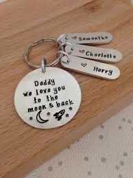 personalised keyring keychain gifts for dad husband gift