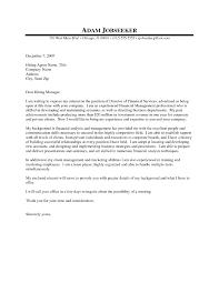 Financial Manager Cover Letter Sample Cover Letter Finance Manager