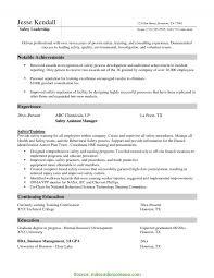 Ehs Resume Sample Ehs Resume Examples paymentsblogus 2