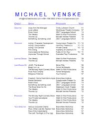 Free Acting Resume Template Musical Theatre Resume Builder Bright And Modern Music Cv Cover 12