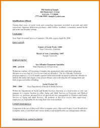 Examples Of Resumes Mental Health Resume Objective Example Therapist