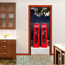 Telephone Booth London Door Stickers Self Adhesive Decorative ...