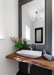 Bring Living Room Style To Your Powder Room Best Modern Powder - Modern bathroom chandeliers