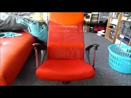 high back mesh office chair with leather effect headrest. mesh and leather effect headrest office chair red unboxing high back with k