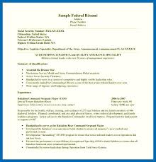 Federal Resume Template Resume Template Government emberskyme 100