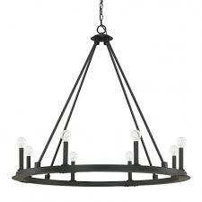 black chandelier lighting. 8 Light Chandelier Black Lighting