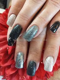 Black+silver+and+grey,+matt+and+shiny+nail+art | Nails/Toes ...