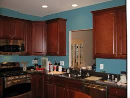 Cherry Cabinets In Kitchen Blue Kitchen Cherry Cabinets Quicuacom