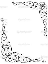 Easy Frame Design Drawing Simple Abstract Floral Frame Pattern Image Vectorielle