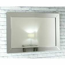 lara extra large silver glass rectangle