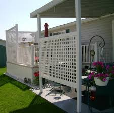 Privacy screen Lattice for Privacy in a Manufactured Home Park