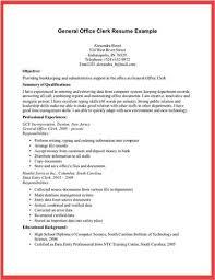Office Clerk Resume