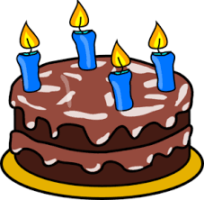 birthday cakes with candles clip art. Birthday Cake Four Candles Clip Art In Cakes With