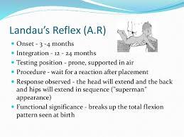 Infant Reflex Integration Chart Neonatal Reflexes By Baneet