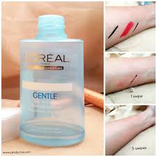 loreal gentle lip and eye makeup remover review