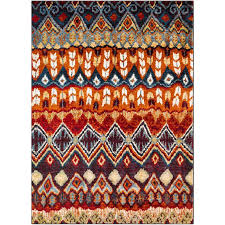 srp1017 2773 red blue and orange 7 foot runner rug serapi