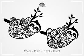 Find & download free graphic resources for sloth. Cute Sloth Floral Mandala Pattern Svg Design Agsdesigns Crafters Svgs In 2020 Svg Design Mandala Pattern Sloth