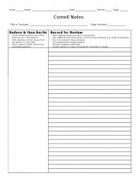 Get Cornell Notes Template 8 Free Templates In Pdf Word Top