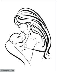 Mom And Baby Coloring Pages Mother And Baby Coloring Pages Baby