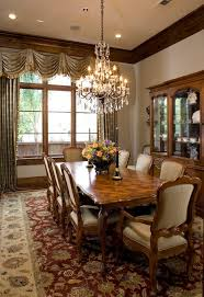 black crystal chandelier dining room traditional with wood industrial leather dining chair brown