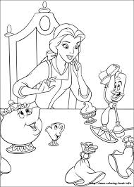 Small Picture Beauty and the Beast coloring pages on Coloring Bookinfo